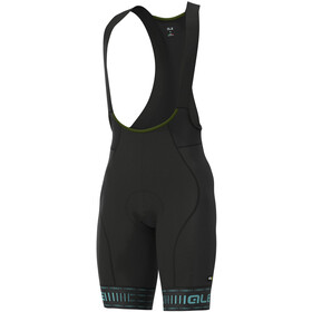 Alé Cycling Graphics PRR Green Road Bib Shorts Heren, black/turquoise